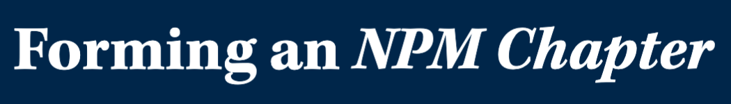 forming an npm chapter page banner